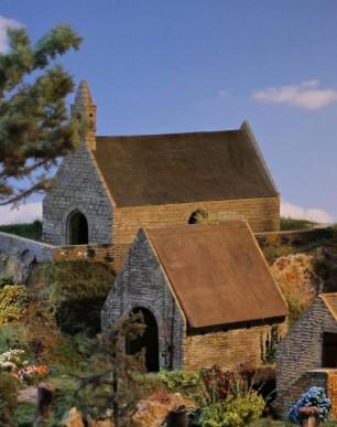Modèles de chapelle hangar et maison bretonne échelle HO en Magiplast