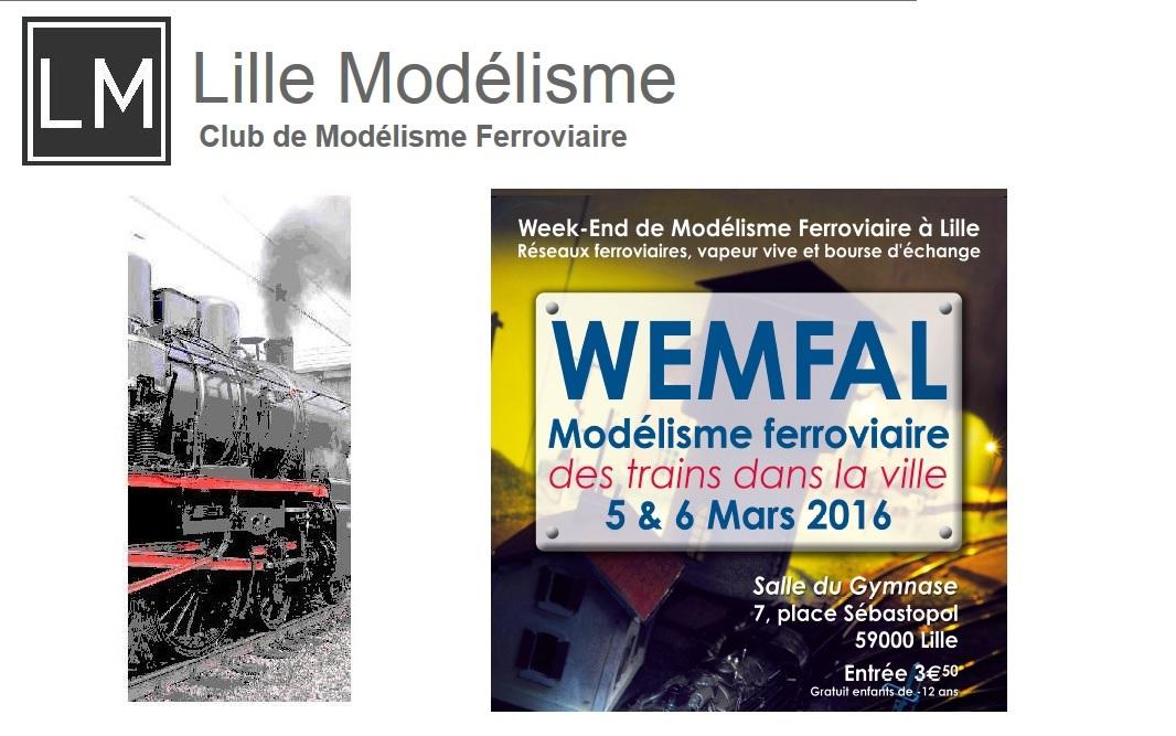 Exposition de Microrama et Maquette Création à Lille Modelisme du 5 au 6 mars 2016